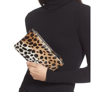 Genuine Calf Hair Leopard Clutch